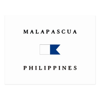 Malapascua Philippines Alpha Dive Flag Post Card