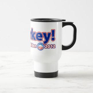 Malarkey! Re-Elect President Obama Biden 2012 Stainless Steel Travel Mug