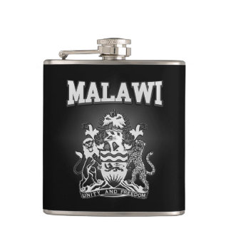 Malawi Coat of Arms Hip Flask