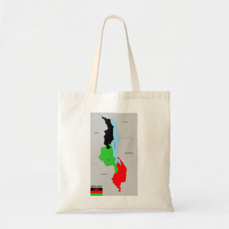 Malawi country political map flag budget tote bag