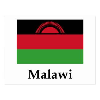 Malawi Flag And Name Postcard