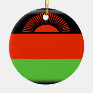 Malawi Flag Ceramic Ornament