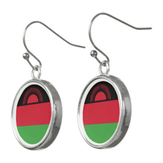 Malawi Flag Earrings