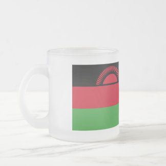Malawi Flag Frosted Glass Coffee Mug