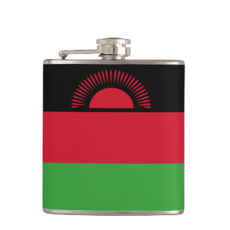 Malawi Flag Hip Flask