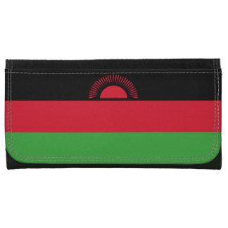Malawi Flag Leather Wallet