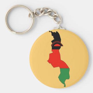 Malawi flag map key ring