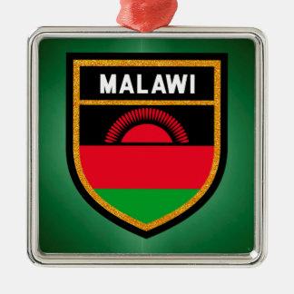 Malawi Flag Metal Ornament