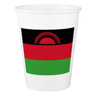 Malawi Flag Paper Cup