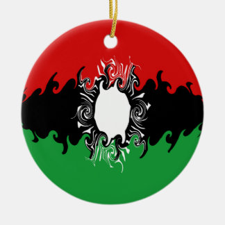 Malawi Gnarly Flag Christmas Tree Ornaments