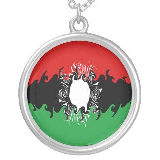 Malawi Gnarly Flag Round Pendant Necklace