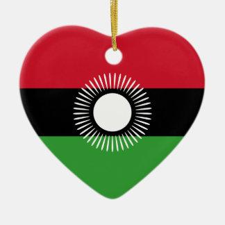 Malawi - Malawian Flag Ceramic Ornament