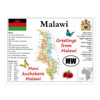Malawi map Postcard