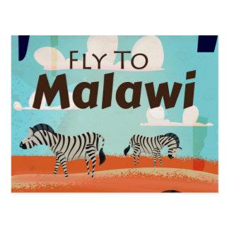 Malawi vintage travel poster postcard