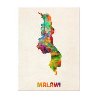 Malawi Watercolor Map Canvas Print