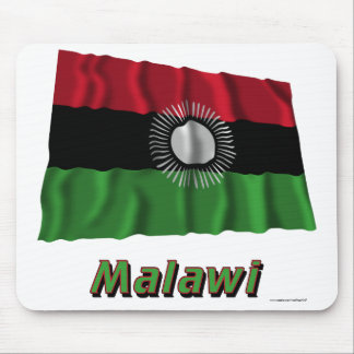 Malawi Waving Flag with Name Mouse Pad