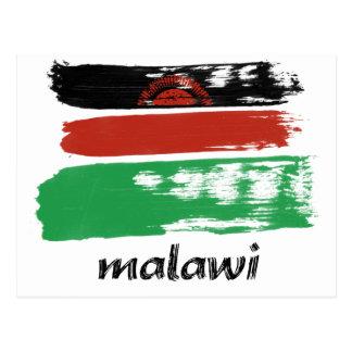 Malawian flag design postcard