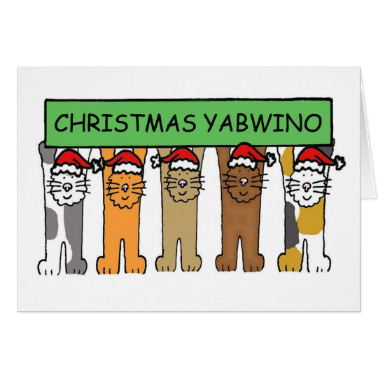 Malawian Happy Christmas Cats Card