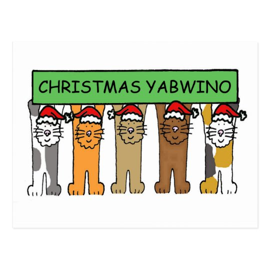 Malawian Happy Christmas Cats Postcard