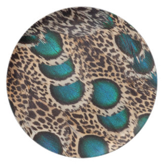 Malay Peacock-pheasant feathers Plate