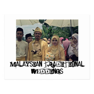 Malay weddings postcard