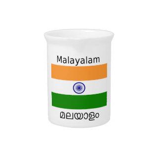 Malayalam Language And India Flag Design Pitcher