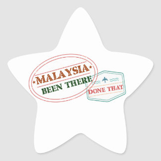 Malaysia Been There Done That Star Sticker