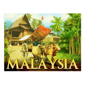 Malaysia - Bullock Cart Postcard