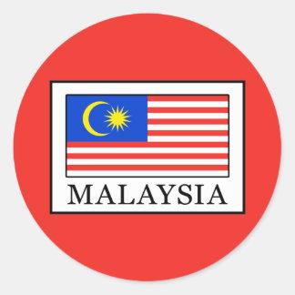 Malaysia Classic Round Sticker