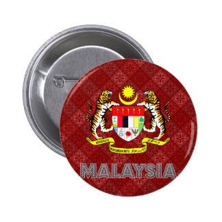 Malaysia Coat of Arms 6 Cm Round Badge