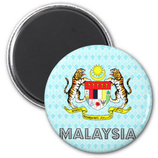 Malaysia Coat of Arms 6 Cm Round Magnet