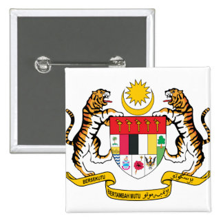 Malaysia Coat of Arms detail 15 Cm Square Badge