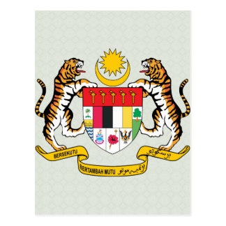 Malaysia Coat of Arms detail Post Card