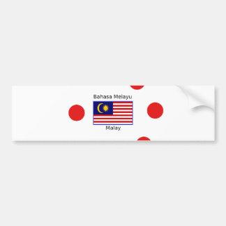Malaysia Flag And Malay Language Design Bumper Sticker