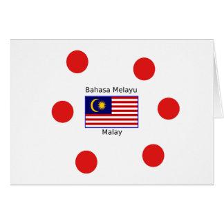 Malaysia Flag And Malay Language Design Card