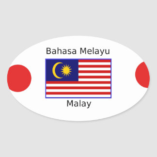 Malaysia Flag And Malay Language Design Oval Sticker