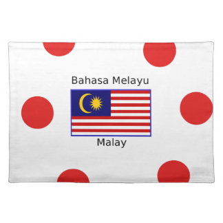 Malaysia Flag And Malay Language Design Placemat