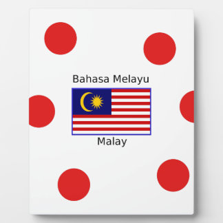 Malaysia Flag And Malay Language Design Plaque