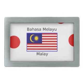 Malaysia Flag And Malay Language Design Rectangular Belt Buckle