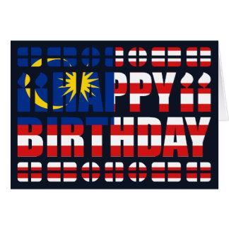Malaysia Flag Birthday Card