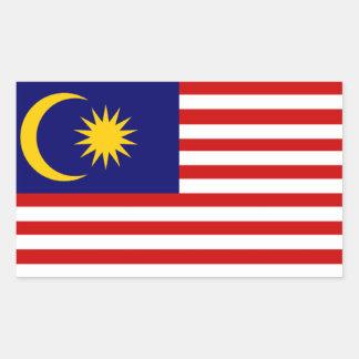 Malaysia: Flag of Malaysia Rectangular Sticker