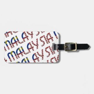 Malaysia Flag Typography Pattern Asian Country Luggage Tag