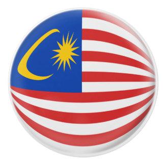 Malaysia Malaysian Flag Ceramic Knob