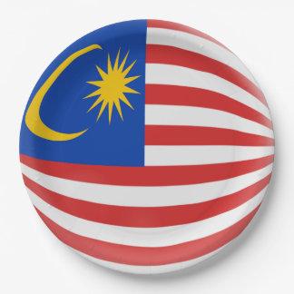 Malaysia Malaysian Flag Paper Plate