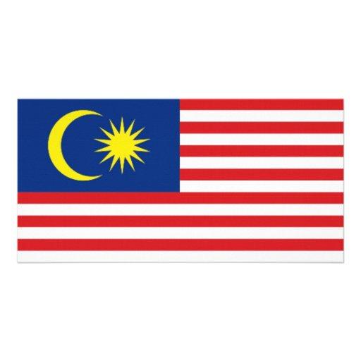 Malaysia National Flag Photo Card
