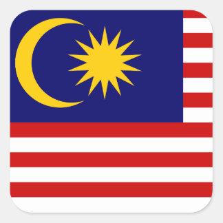 Malaysia National World Flag Square Sticker