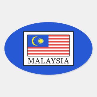 Malaysia Oval Sticker