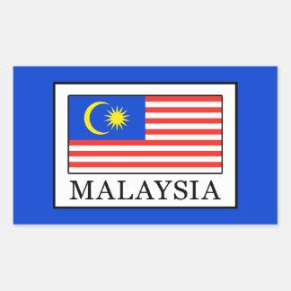 Malaysia Rectangular Sticker