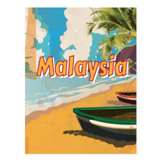 Malaysia Vintage vacation Poster Postcards