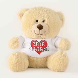 Malaysian Saya Cintamu I Love You Red Heart Teddy Bear
